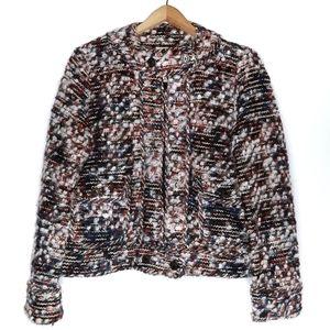 Zara | Knitwear Tweed Moto Jacket Sweater
